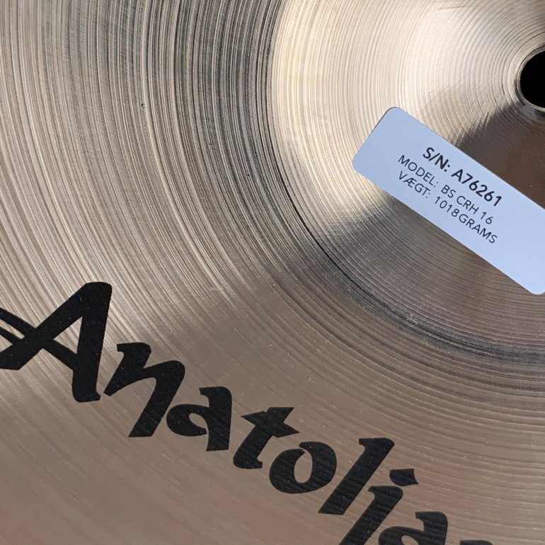 "Anatolian Baris 16"" Crash - CymbalONE"