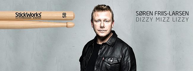 StickWorks 5B trommestikker Dizzy Mizz Lizzy Soeren Friis-Larsen - CymbalONE